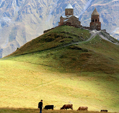 Wandern in den Bergen des Kaukasus