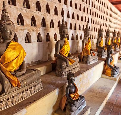 Laos-Tempel, Trekking, Traditionen